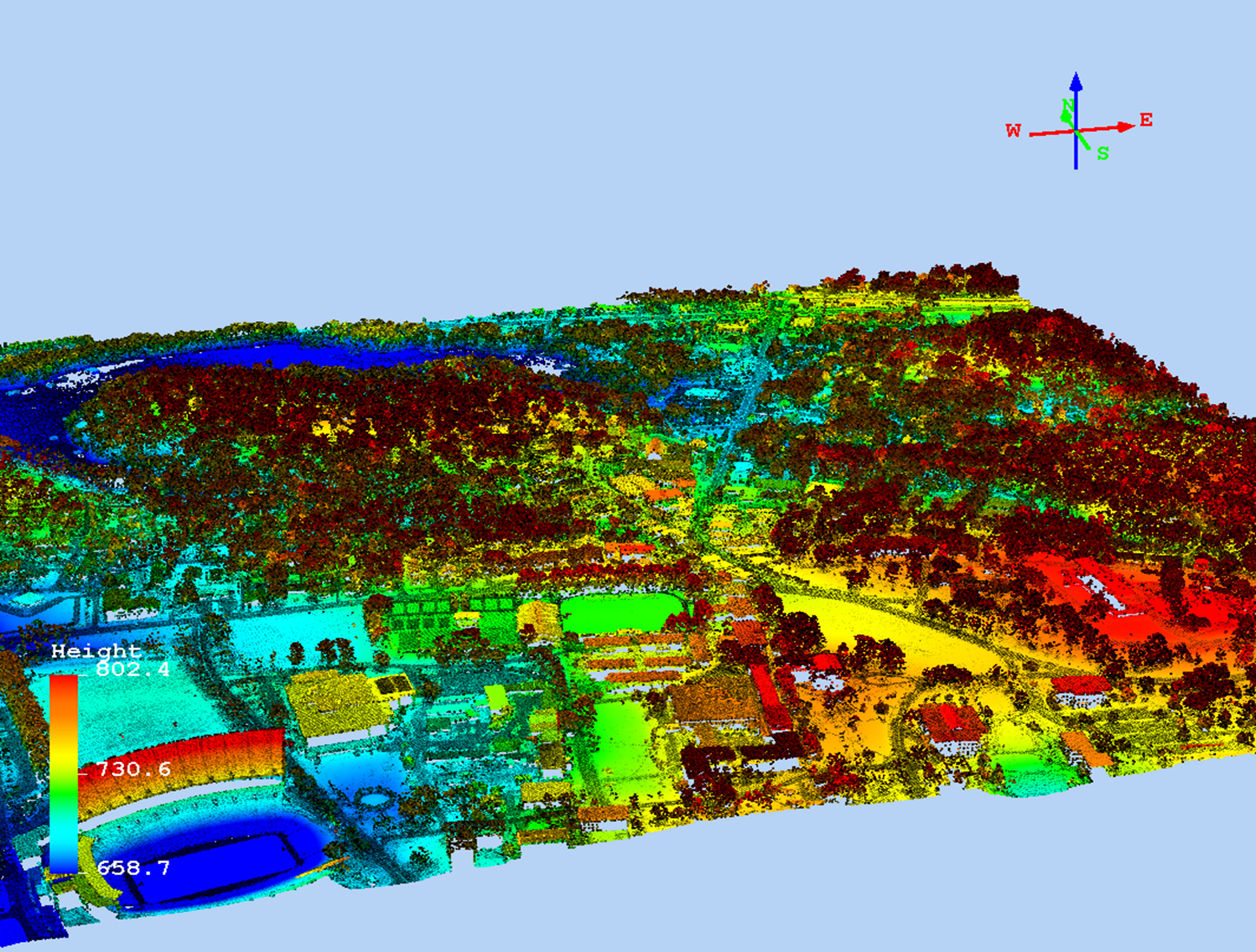 LiDAR data for the Clemson University campus processed by Dr. Chris Post, Clemson, SC